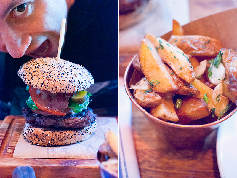Baby's burger and chips