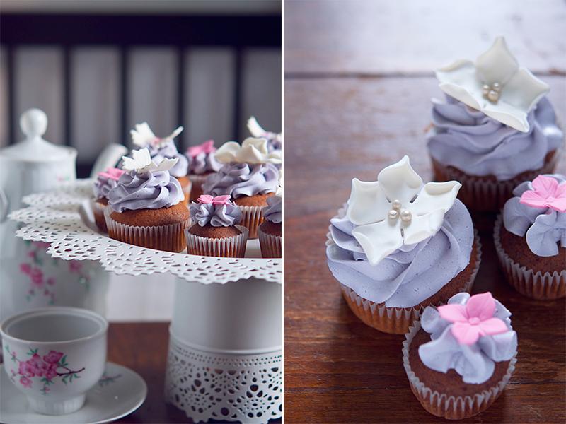 Cupcakes pistruiati pentru nunta